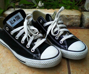black, shoes, and converse image