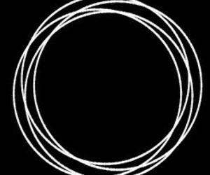 black and white, circle, and cool image