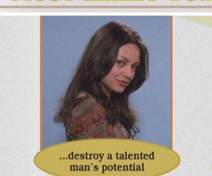 Mila Kunis and that 70s show image