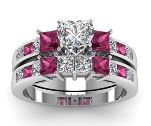 vintage rings, eternity bands, and wedding ring sets image
