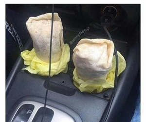 car, food, and couple image
