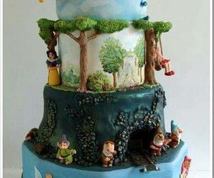 disney, cake, and snow white image