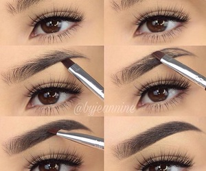 eyebrows, eyes, and glam image