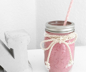 drink, pink, and smoothie image