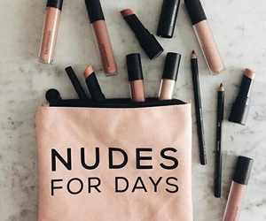 makeup, Nude, and lipstick image