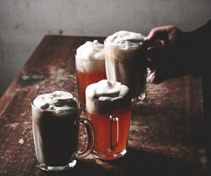 harry potter, drink, and butterbeer image