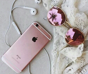 iphone, pink, and sunglasses image