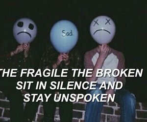 sad, broken, and fragile image