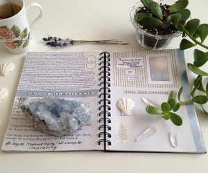 books, journal, and letters image