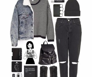 booties, sweater, and denimjacket image