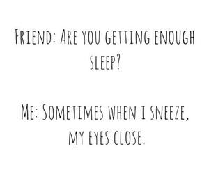 friend and sleep image