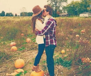 couple, pumpkin, and love image