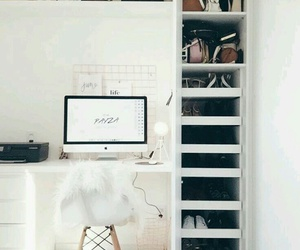 desk, minimal, and room image