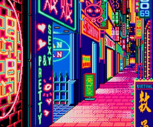vaporwave, aesthetic, and neon image