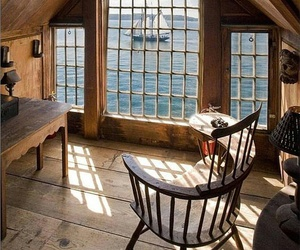 sea, view, and window image