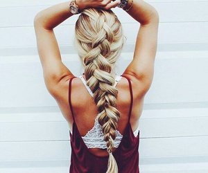 blonde, fitness, and hair styles image