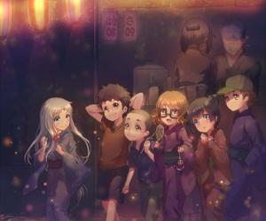 anime, anime girl, and friendship image