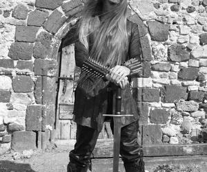 long hair and viking image