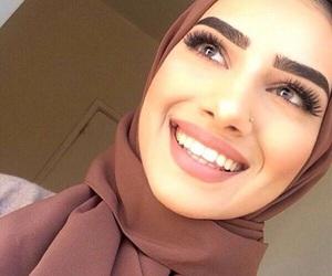 beauty, hijab, and makeup image