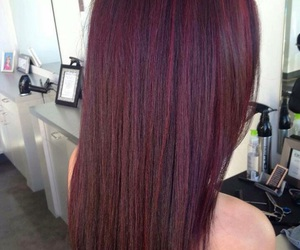 hair and borgoña image