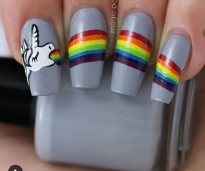 nails, rainbows, and unicorn image