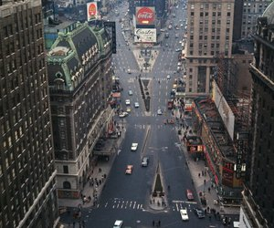 history, new york, and old times square image