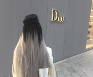 dior, hair, and girl image