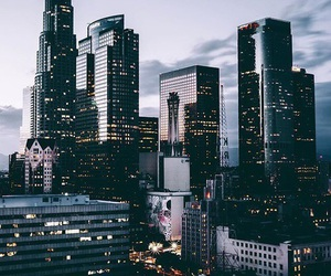 city, building, and lights image