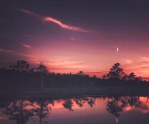pink, beautiful, and moon image
