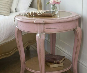 home decor, vintage furniture, and nightstand image
