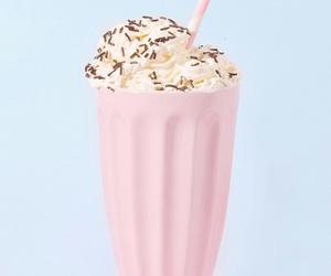 pink, milkshake, and pastel image