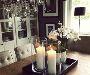 candles, design, and dining room image