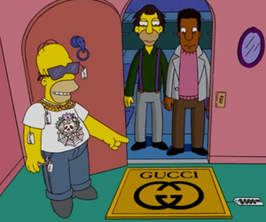 gucci, the simpsons, and homer image