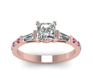 princess cut diamond ring, luxury ring, and expensive ring image