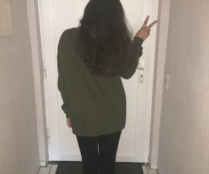 girl, pullover, and grunge image