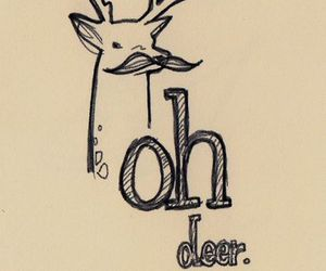 deer, mustache, and moustache image