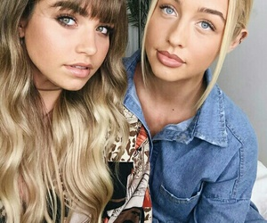 bangs, blond, and friendship image