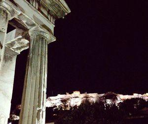 acropolis, Athens, and night image
