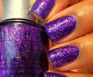 space lilac nails image
