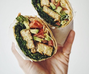 delicious, vegan, and wrap image