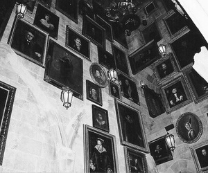 b&w, black and white, and paintings image