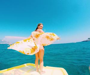 girl, travel, and happy image