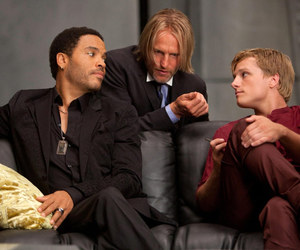 the hunger games, cinna, and haymitch image
