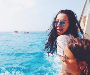 beach, summer, and teen image