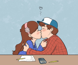 pinecest, gravity falls, and dipper pines image