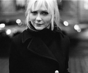 Kirsten Dunst, black and white, and blonde image