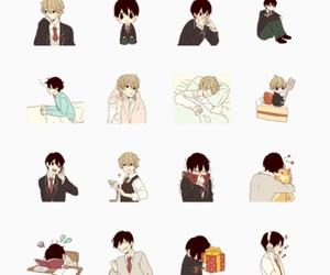 kawaii, stickers, and high school boys image