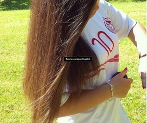 cheveux, fille, and tunisia image