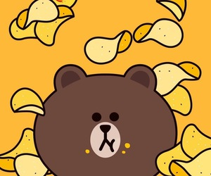 wallpaper, brown, and bear image