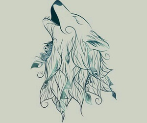 draw, wolf, and art image